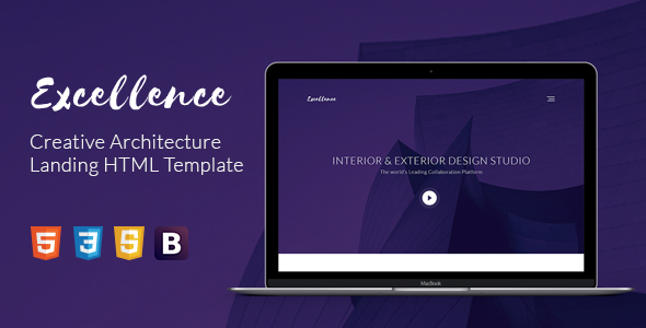 Excellence Creative Architecture Landing HTML Template            TFx