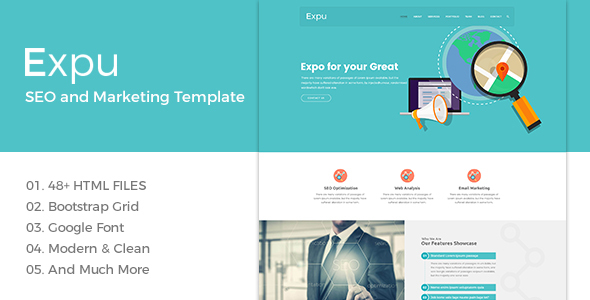 Expu – Marketing & SEO Services Template            TFx