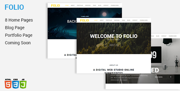 FOLIO - One Page HTML5 Template            TFx