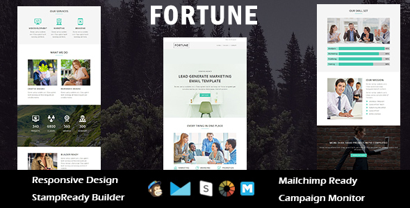 FORTUNE - Multipurpose Responsive Email Template + Stampready Builder            TFx