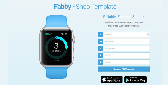 Fabby - One Product Shop Template            TFx