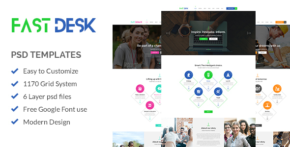 Fast Desk - Office, Food, Charity and Industry Psd Templates            TFx