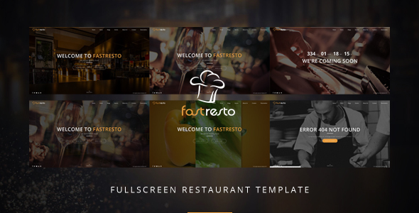 Fastresto Fullscreen Restaurant Template            TFx