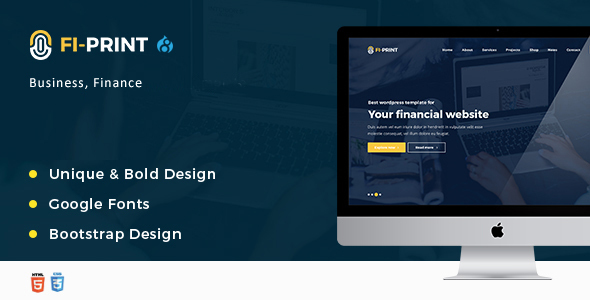 Fi-Print – Business, Finance, Accountant Corporate Drupal 8 Theme            TFx