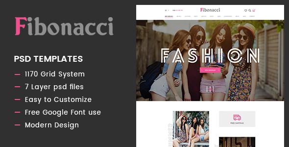 Fibonacci - Elegant Fashion PSD Template            TFx