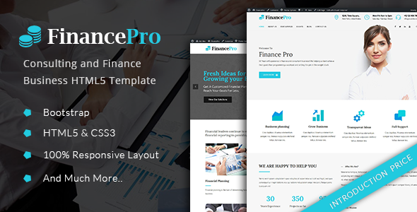 FinancePro - Consulting and Finance Business HTML Template            TFx
