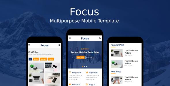 Focus - Multipurpose Mobile Template            TFx