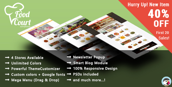 Food Shop - Responsive Prestashop Theme            TFx