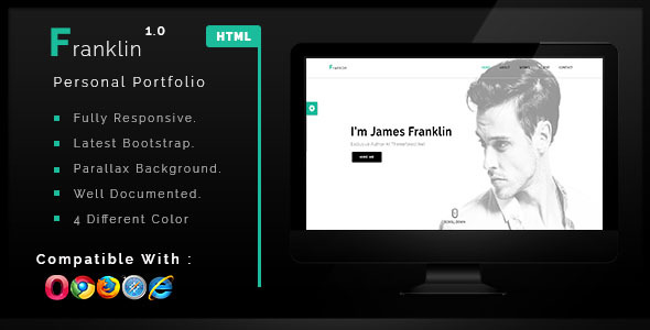 Franklin - Personal One Page Portfolio Template            TFx