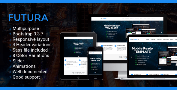 Futura – Multipurpose One Page Bootstrap Template            TFx