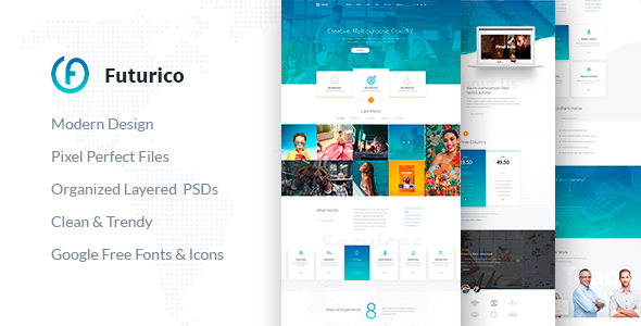 Futurico - Multipurpose WordPress Theme            TFx