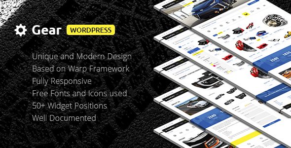 Gear — Business/Auto/Store Responsive WordPress Theme            TFx