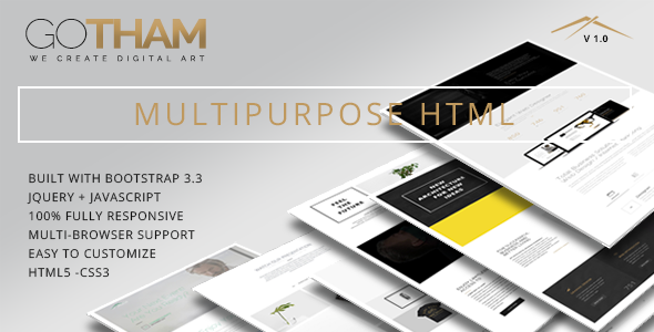 GoTham - Multipurpose HTML5 Responsive Parallax Template            TFx