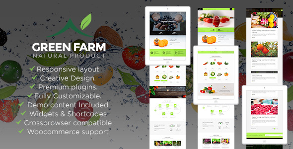 Green Farm – Organic Food & Eco Farm WP Theme            TFx
