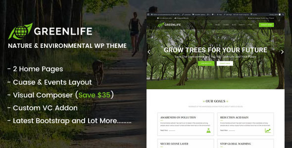 Greenlife - Nature & Environmental WP theme            TFx