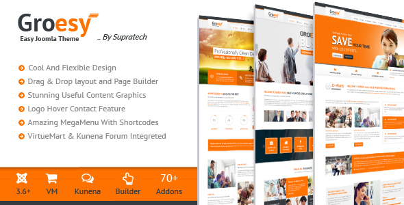Groesy - Responsive Multi-Purpose Joomla Template            TFx