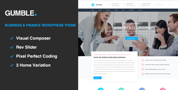Gumble - Business and Finance WordPress Theme            TFx