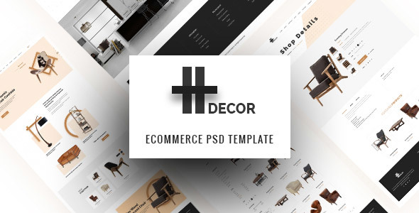 H Decor – Creative PSD Template for Furniture Business Online            TFx