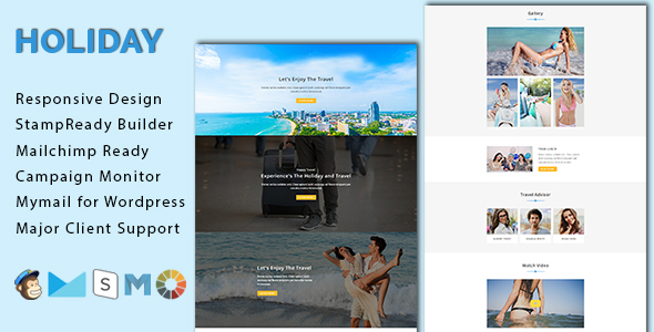 HOLIDAY - Responsive Email Template With Stamp Ready Builder Access            TFx