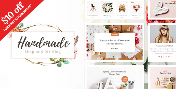 Handmade Shop – Handicraft Blog & Creative Shop WordPress Theme            TFx