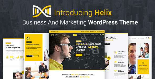 Helix - Business And Marketing WordPress Theme            TFx