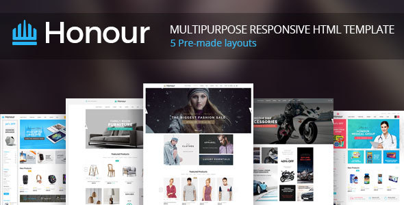 Honour - Responsive Multipurpose E-Commerce HTML5 Template            TFx