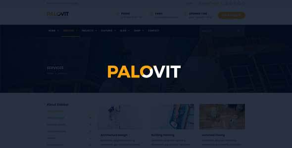 Industrial, Construction, Corporate HTML5 Template – Palovit            TFx