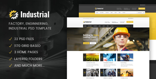Industrial - Factory / Industry / Engineering PSD Template            TFx