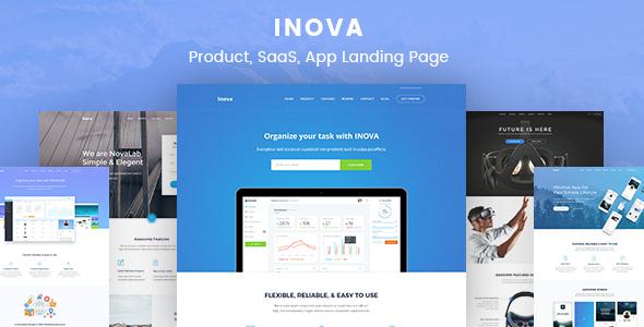 Inova - Product, SaaS, App, Startup, Marketing Landing Page            TFx