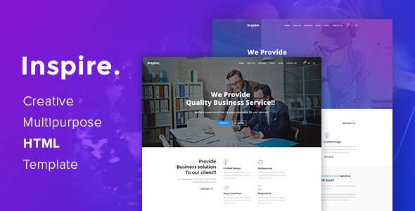 Inspire. – Creative Multipurpose HTML template            TFx