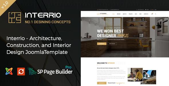 Interrio – Responsive Interior Design Joomla Template            TFx