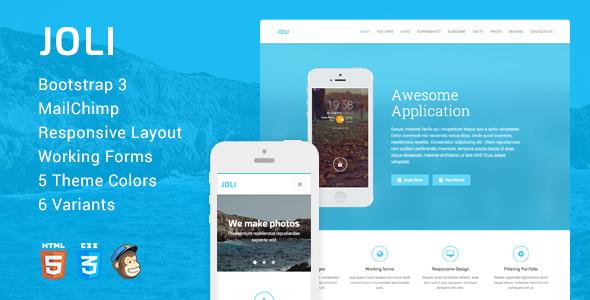 JOLI – Responsive Multi-Purpose Landing Page Template            TFx