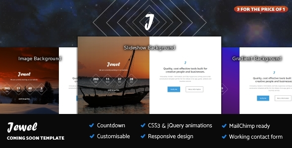 Jewel – Responsive Coming Soon Template            TFx