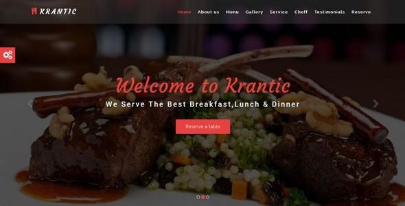 KRANTIC- Responsive Restaurant HTML5 Template            TFx