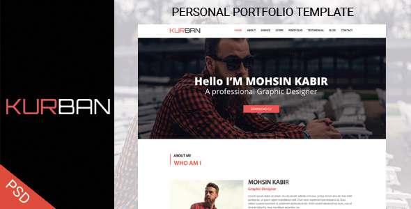 KURBAN- One Page Personal Portfolio Template            TFx