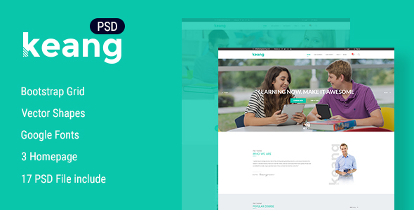 Keang - Education PSD Template            TFx