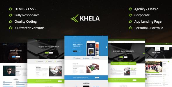 Khela | Business, Portfolio, App Landing Page Template            TFx