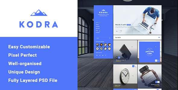 Kodra - Single Page PSD Template            TFx