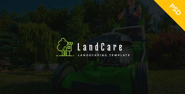 LandCare - landscaping, & Gardening PSD Template            TFx