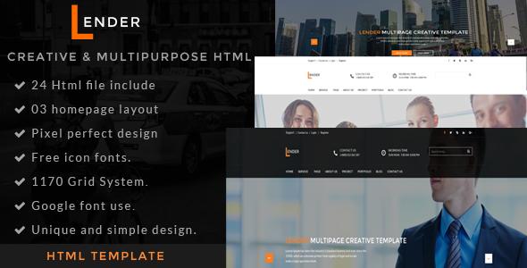 Lander | Multipurpose HTML5 Template            TFx