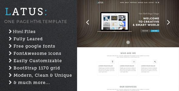 Latus | One Page Portfolio HTML5 Template            TFx