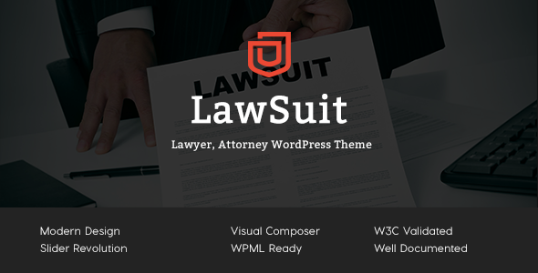 LawSuit - Lawyer, Attorney, Law Agency WordPress Theme            TFx