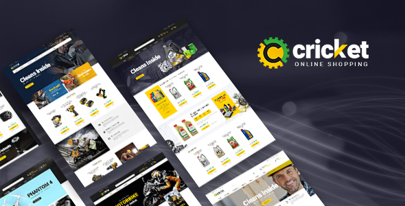 Lexus Cricket - Advanced Opencart Theme for Equipment Mechanic Shop            TFx