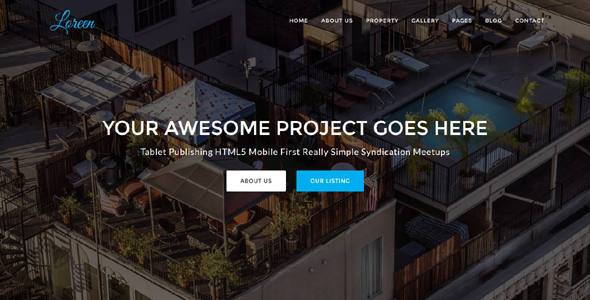Loreen – Real Estate HTML Template            TFx