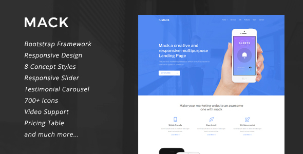 Mack – 8 in 1 Multipurpose Landing Page            TFx