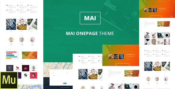 Mai | One Page PSD Template            TFx