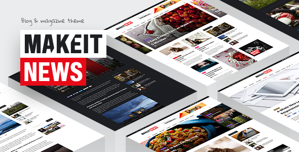 MakeIt - Blog & Magazine WordPress Theme            TFx
