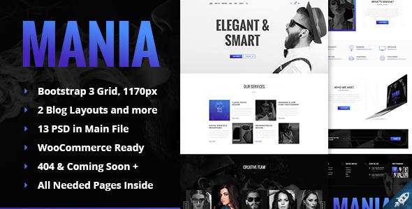 Mania - Digital & Photo Agency HTML Template            TFx