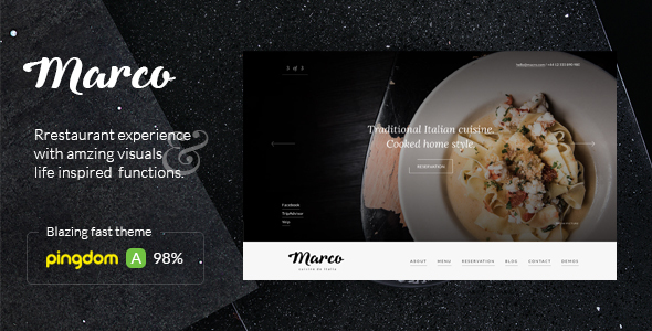 Marco – Modern Restaurant WordPress Theme            TFx