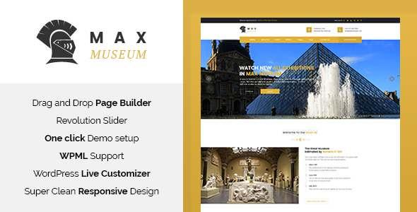 Max Museum - History & Archeology WordPress Theme            TFx